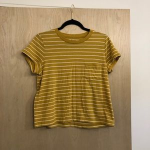 Madewell Striped Pocket Crop Tee